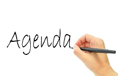 Image of hand writing Agenda